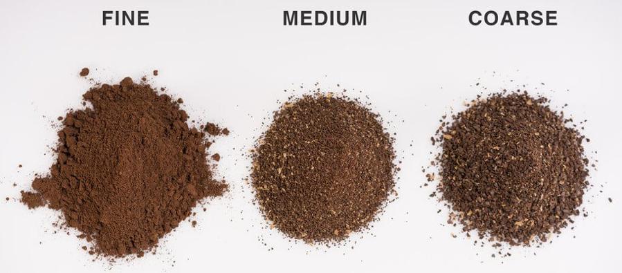 fine grind, medium grind and coarse grind