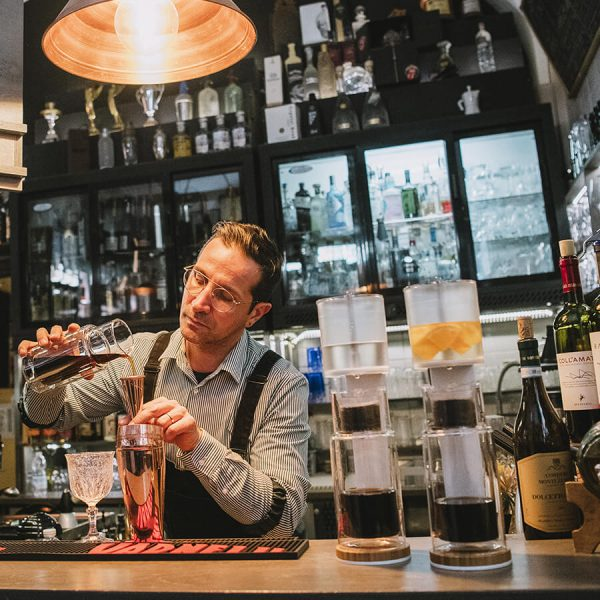 BRRREWER in a bar