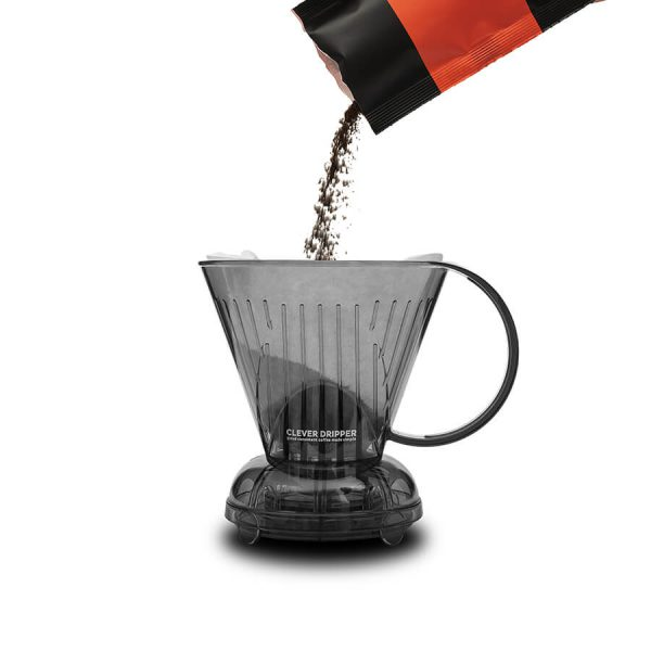 Clever coffee maker with groundtoenjoy coffee