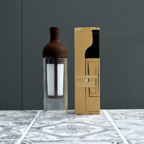 Filter in coffee bottle by hario for cold brew