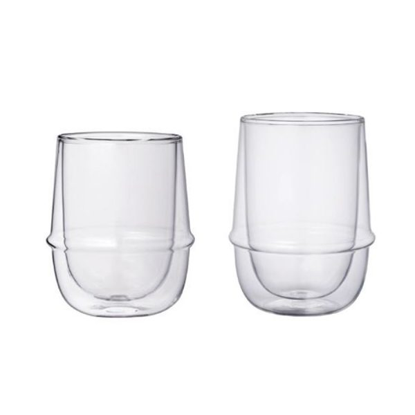 Two double walled Kronos glasses