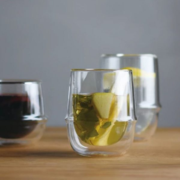 Kronos double walled glass for tea and coffee