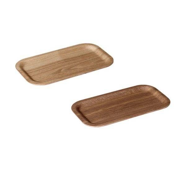 Two Kinto nonslip coffee slim trays