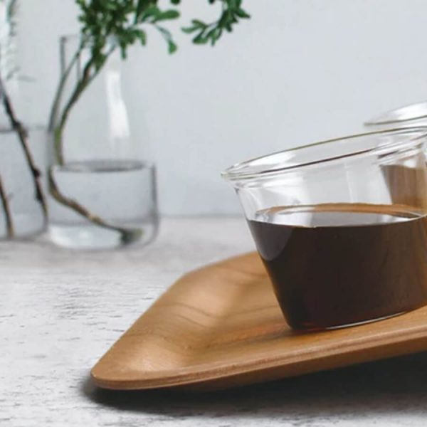 Nonslip tray for coffee and beverages