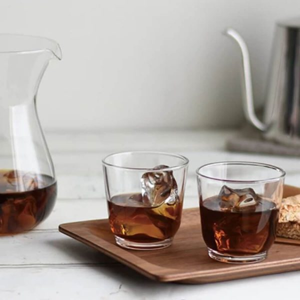 Slow coffee style tray with antislip tech