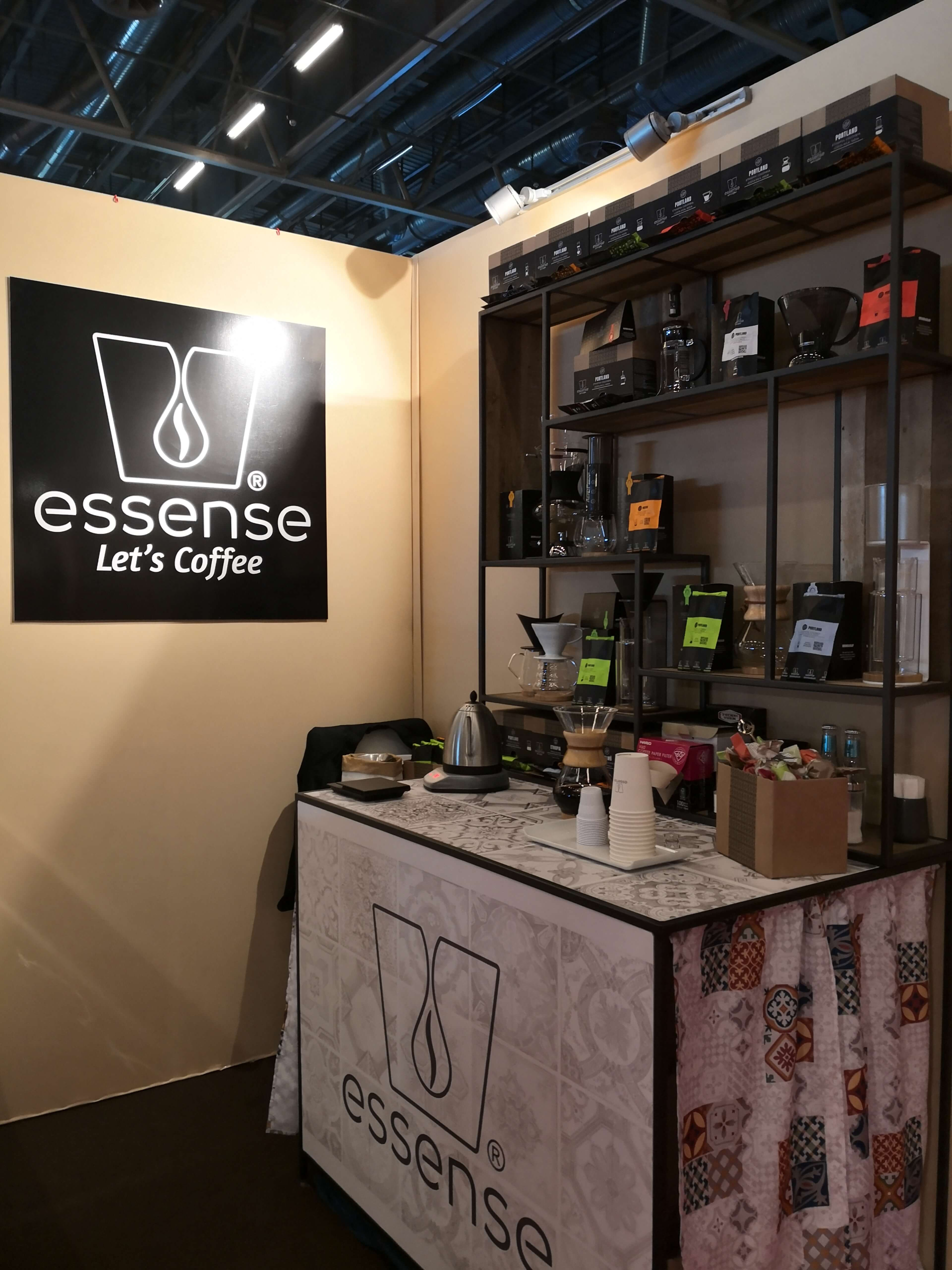 Essense coffee stand in gourmet selection