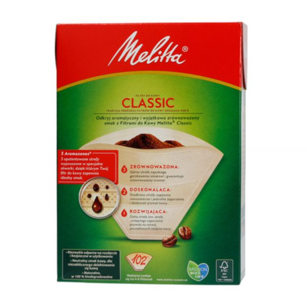 Melitta 102 filters for coffee