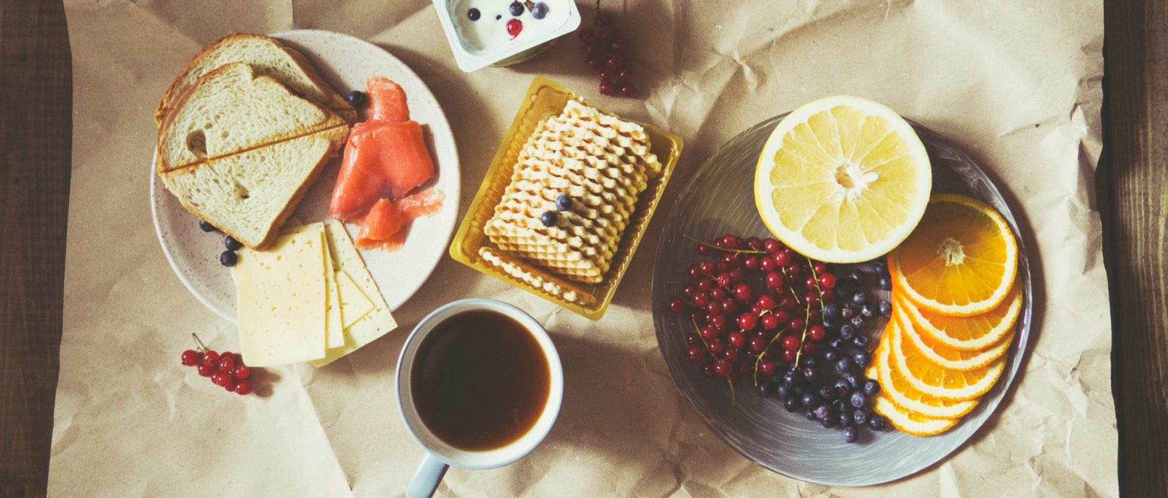 Breakfast with specialty coffee